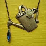 How does your garden grow watering can necklace