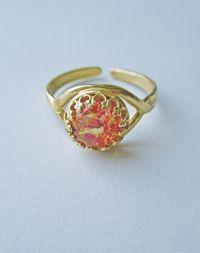 Caelia fire opal ring 2
