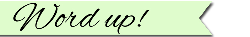 Word up banner