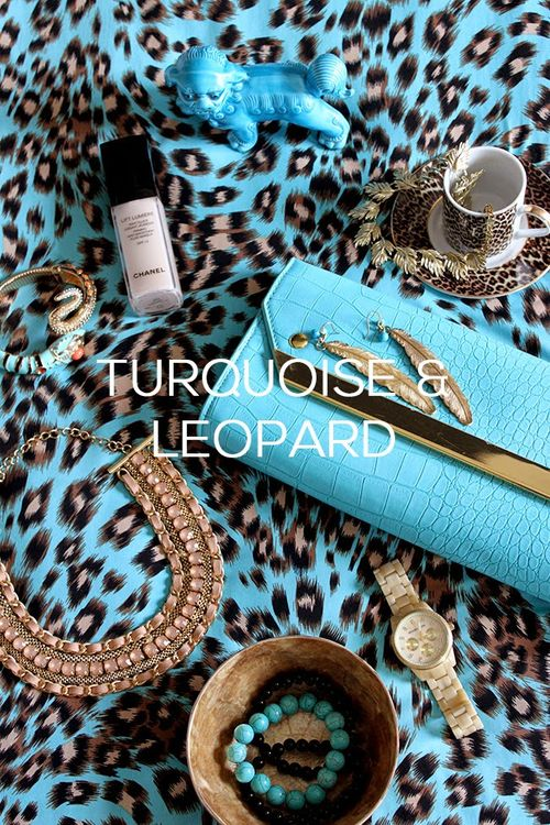 Turquoise and Leopard