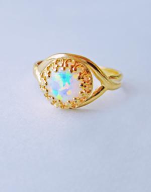 White opal ring 1