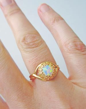 White opal ring 3