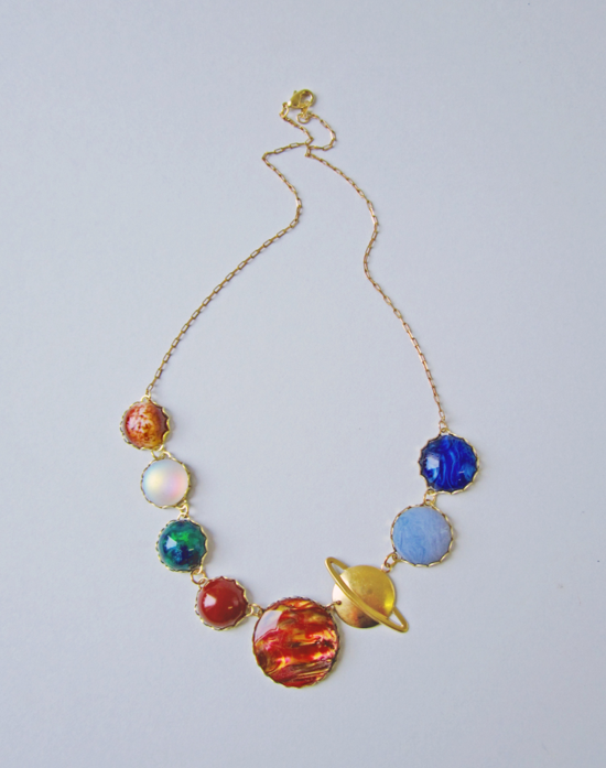 Solar System  necklace 1