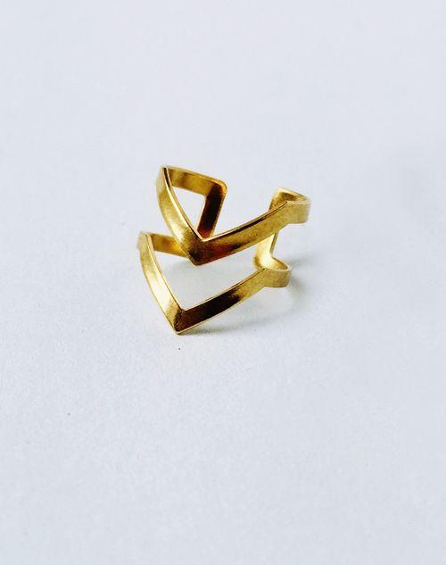 Aase_Brass_Chevron_Ring-1