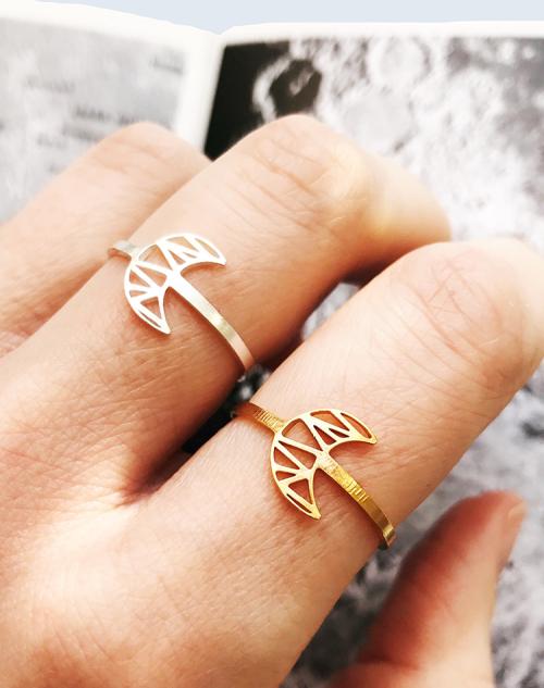 Mahina worn moon ring
