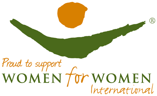 Women for Women International proud supporter logo colour